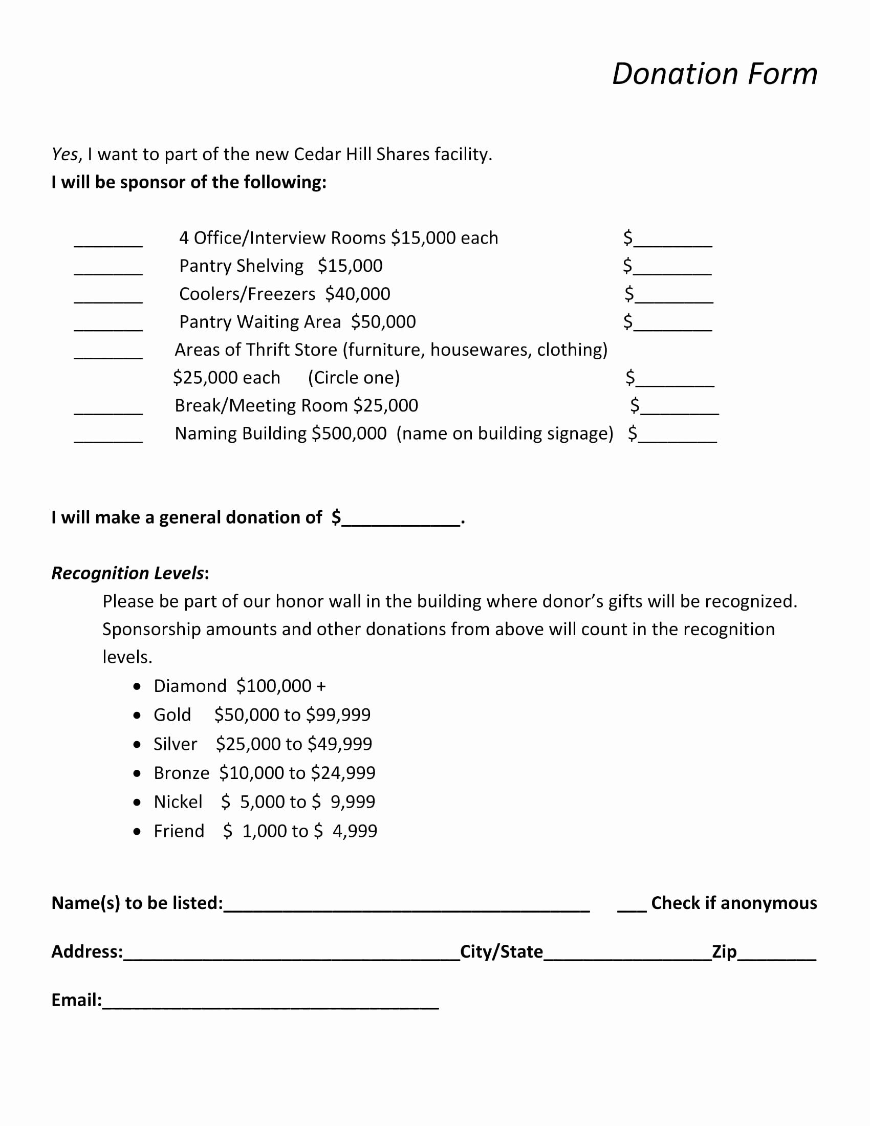 Salvation Army Donation Spreadsheet Spreadshee