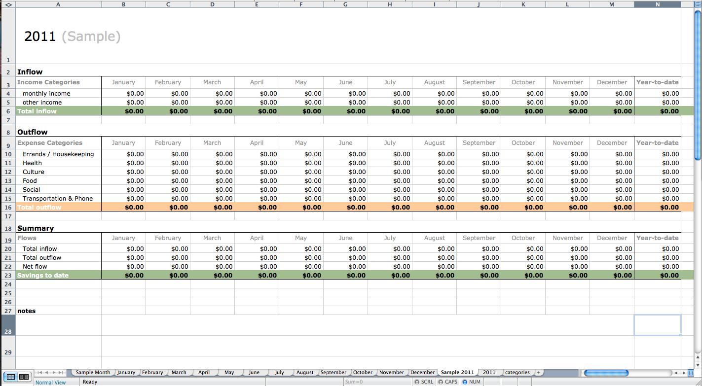 Sample Bookkeeping Spreadsheet Regarding Accounting