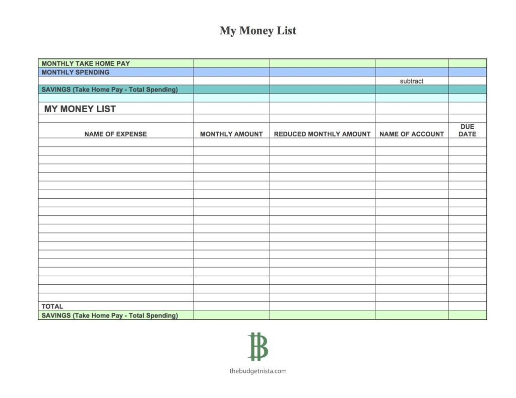 Savings Budget Spreadsheet With Regard To The One Week