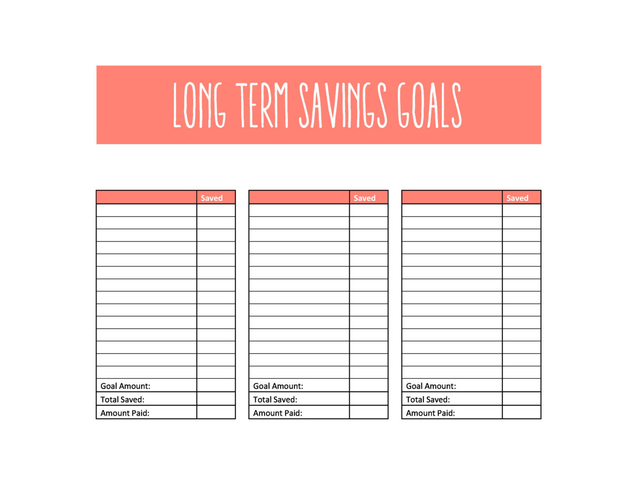 Savings Goal Spreadsheet Spreadsheet Downloa Savings Goal