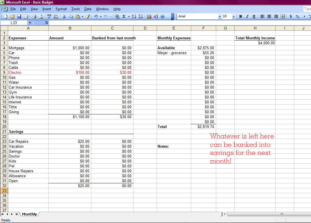 Setting Up A Personal Budget Spreadsheet With Regard To
