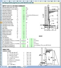 Sheet Pile Wall Design Spreadsheet Spreadsheet Downloa ...