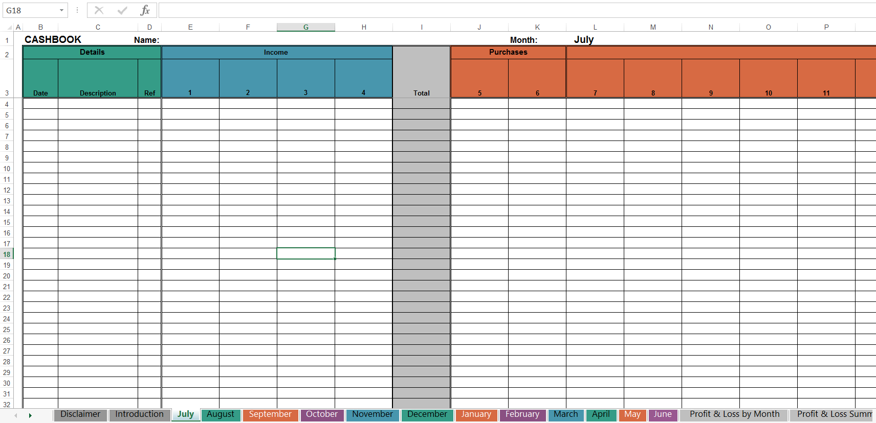 Simple Cash Book Spreadsheet Db Excel