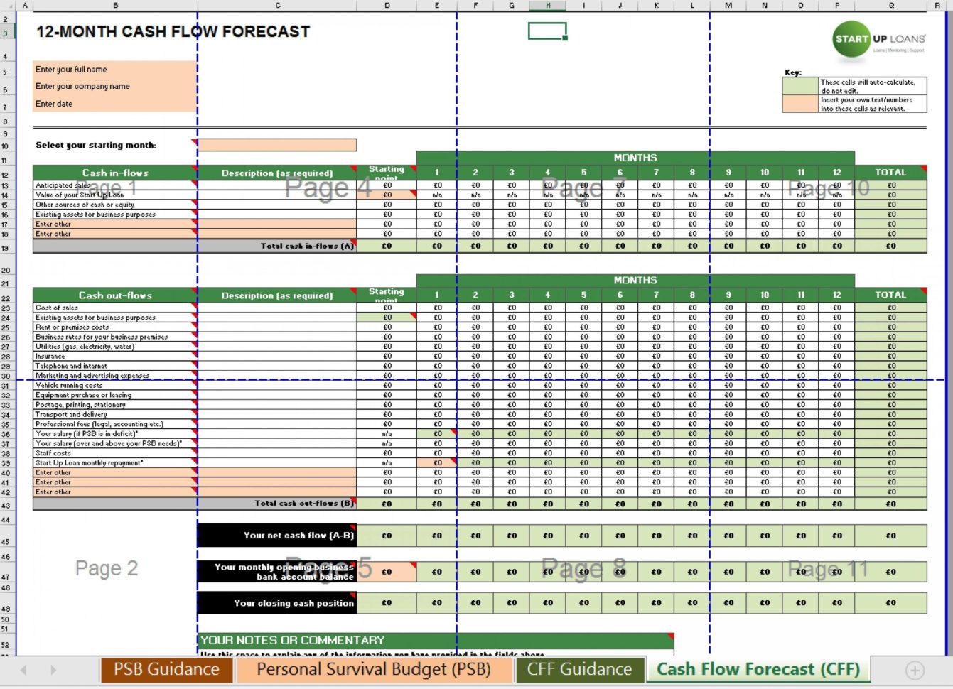 Simple Cash Flow Spreadsheet Throughout 014 Template Ideas