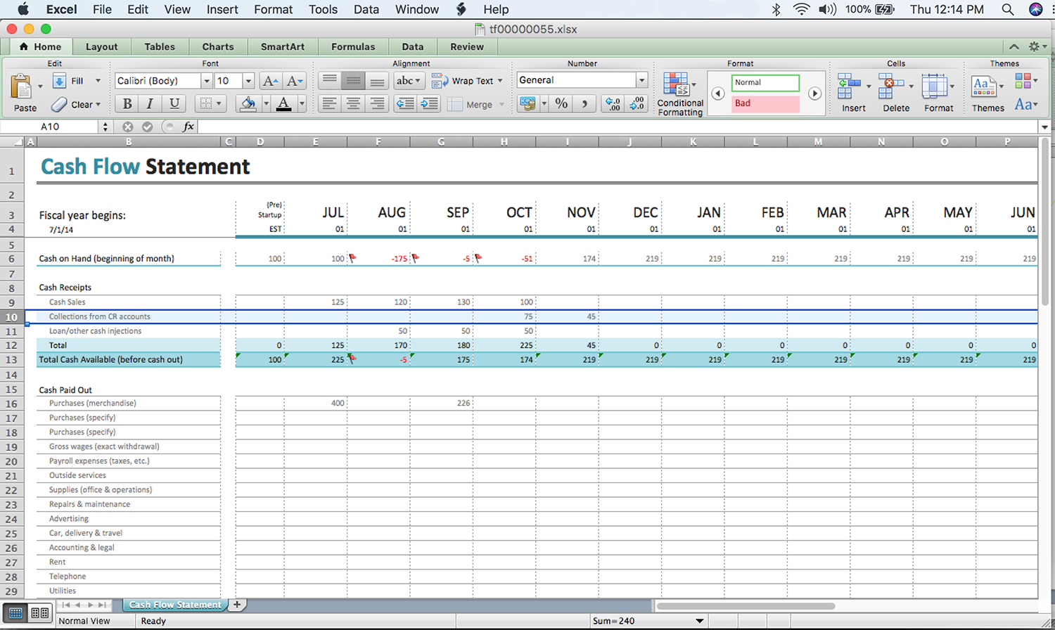 Simple Cash Flow Spreadsheet Spreadshee Simple Cash Flow Forecast Template Simple Cash