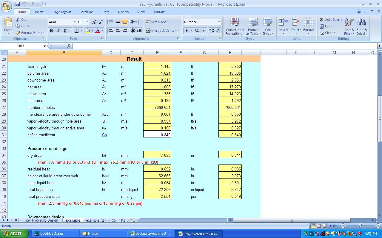 Slug Catcher Sizing Spreadsheet Intended For Kolmetz