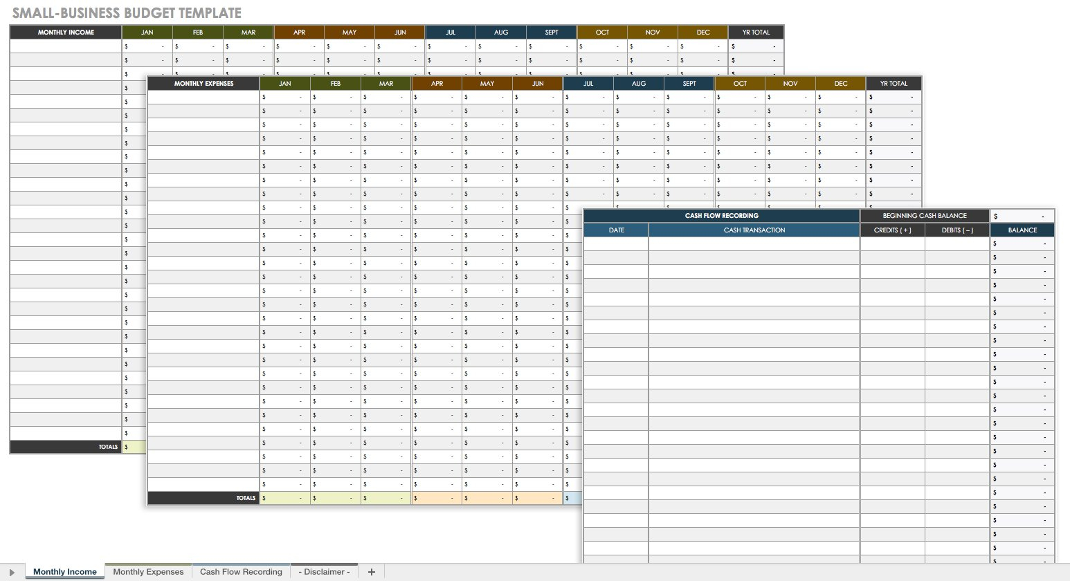 Small Business Budget Spreadsheet Spreadsheet Downloa