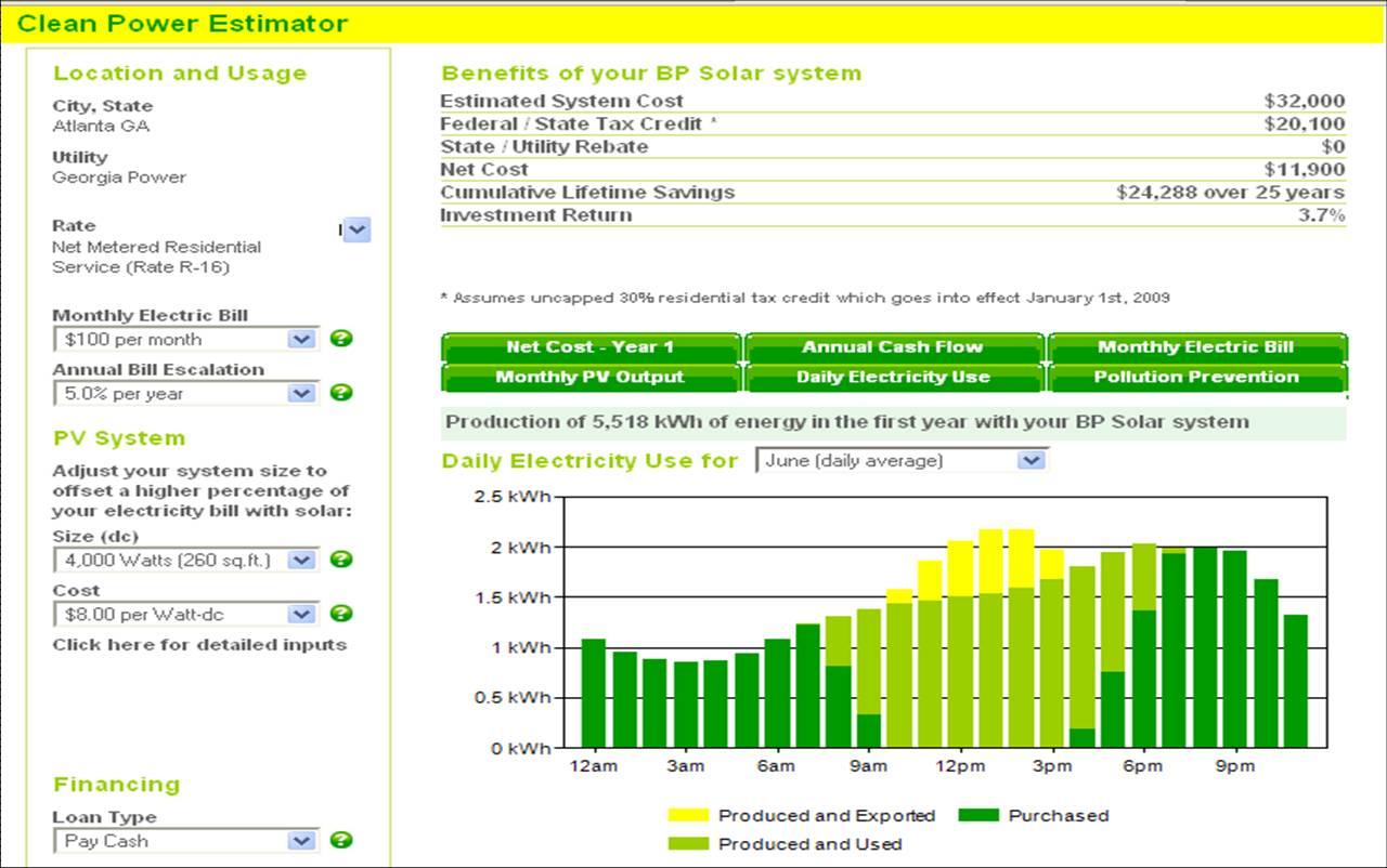 Solar Calculator Spreadsheet