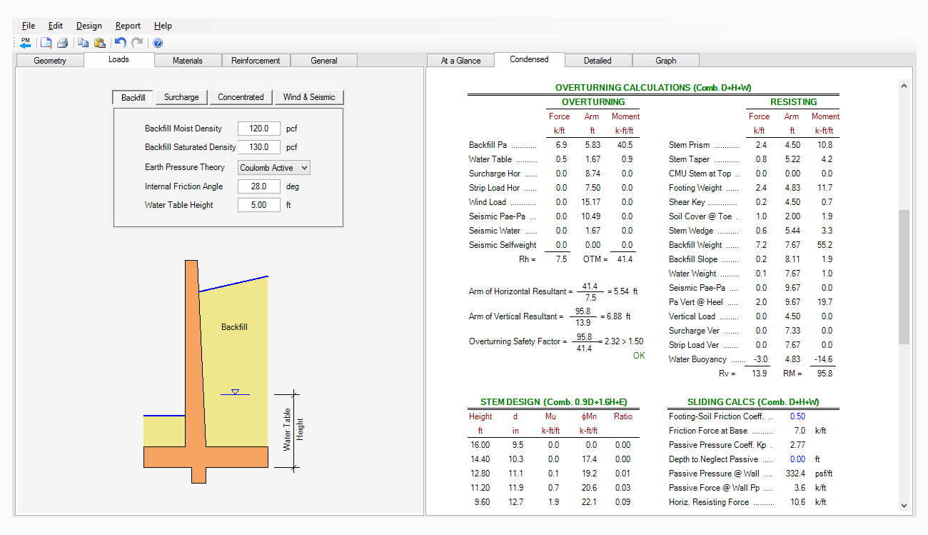 Retaining Wall Design Spreadsheet - Ronniebrownlifesystems