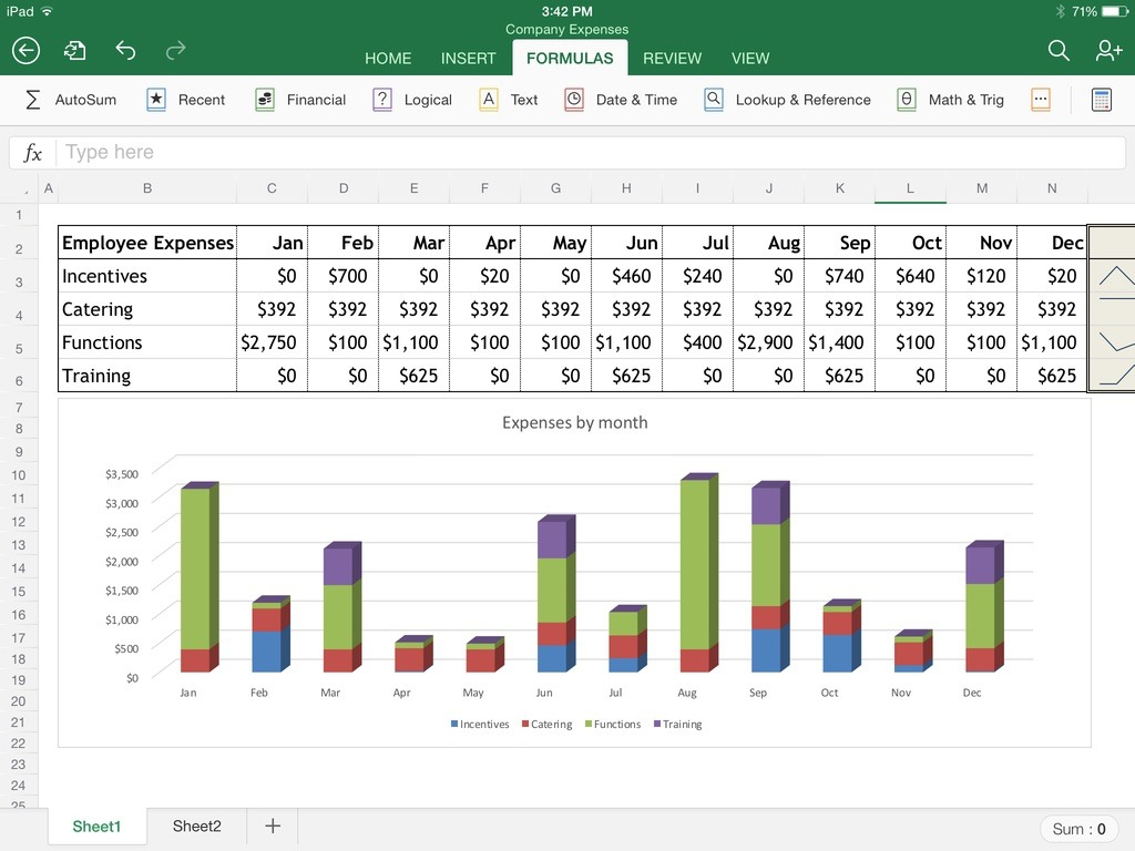 Spreadsheet For Ipad Within Excel For Ipad The Macworld