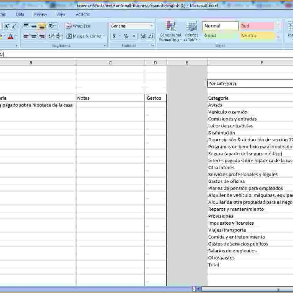Spreadsheet To Keep Track Of Bills Pertaining To Keeping