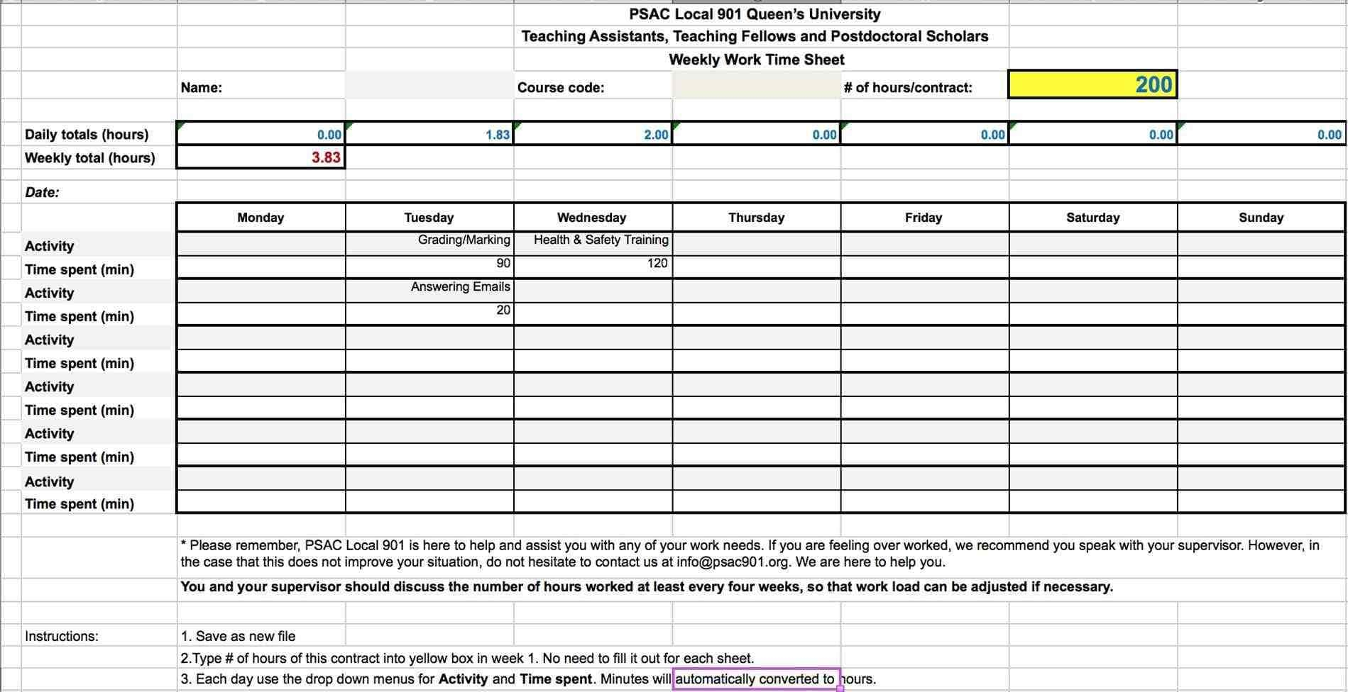 Spreadsheet To Track Hours Worked Spreadsheet Downloa Template To Keep Track Of Hours Worked