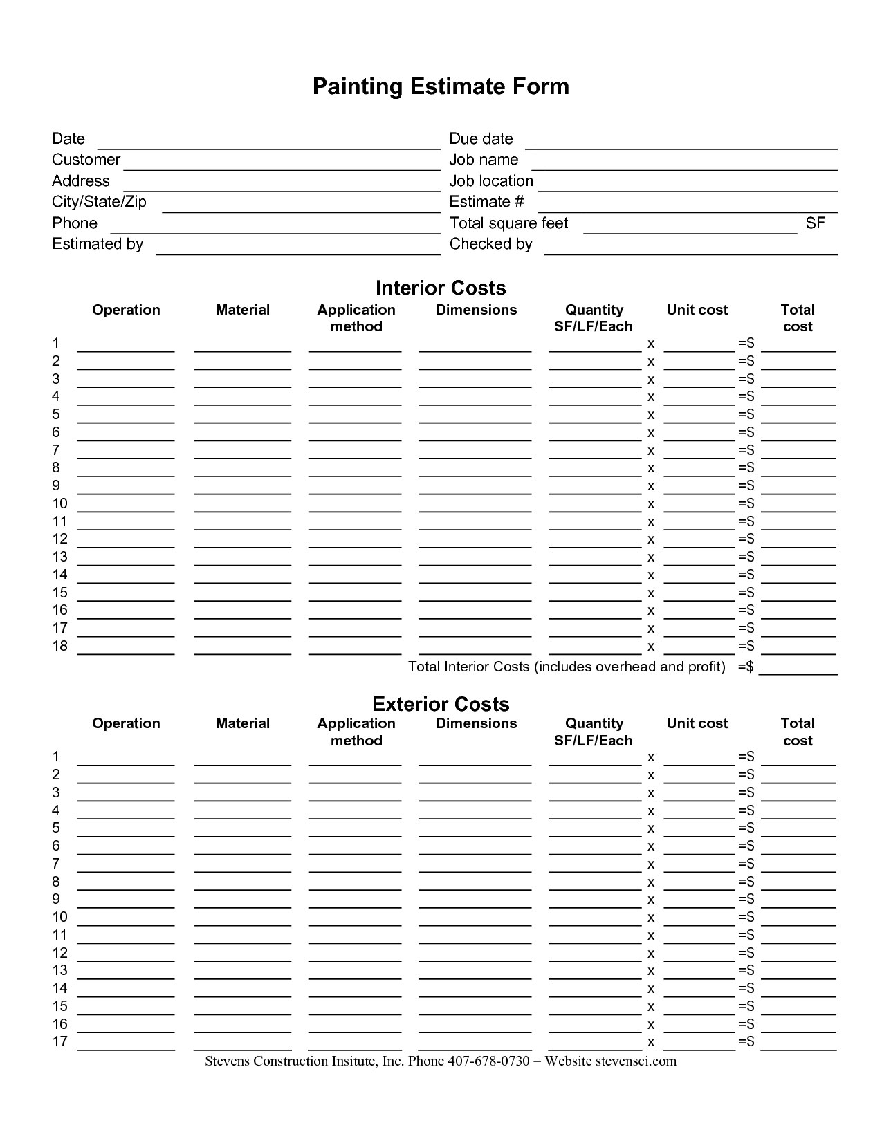 Gardening Worksheet