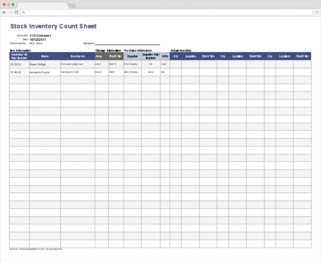 Stock Control Spreadsheet Spreadshee Stock Control