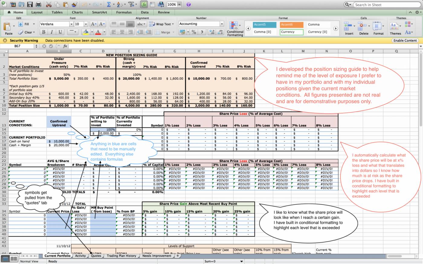 Stock Market Excel Spreadsheet Free Download Spreadsheet