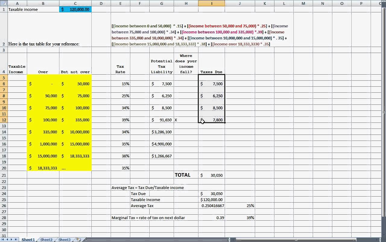 Tax Calculator Excel Spreadsheet Spreadshee Tax Calculator Excel Spreadsheet India Tax
