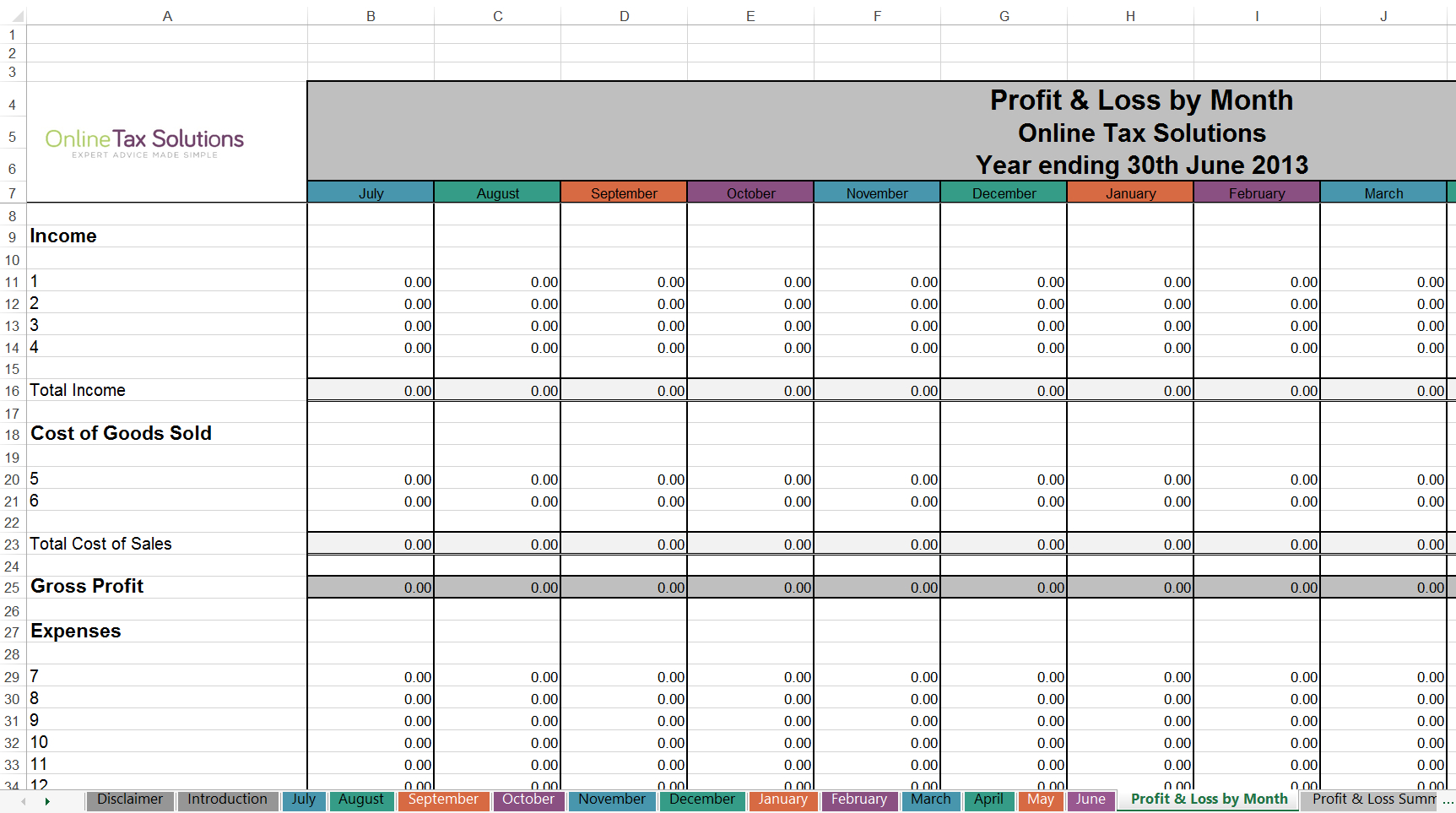 Tax Return Spreadsheet Australia
