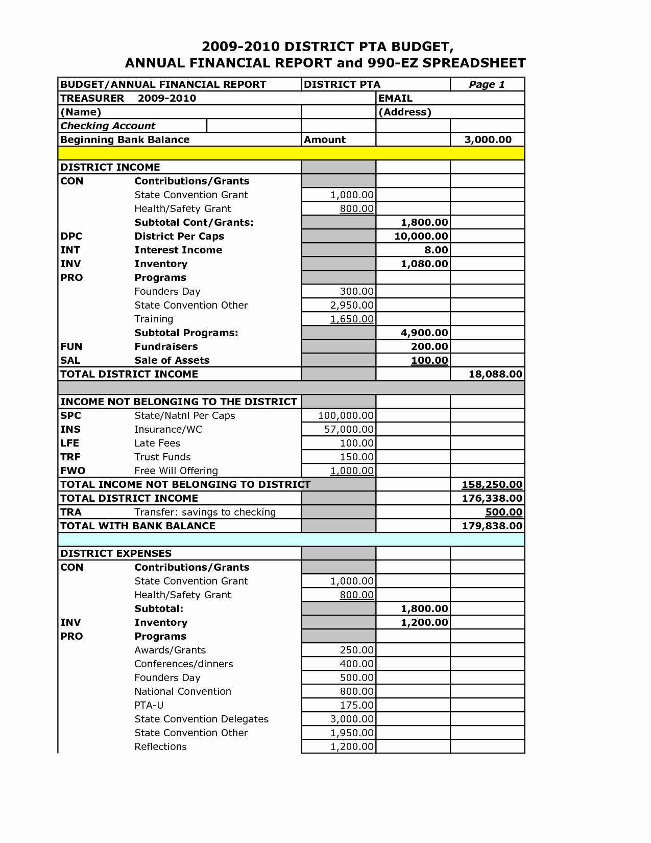 Tax Spreadsheet For Small Business Regarding Small