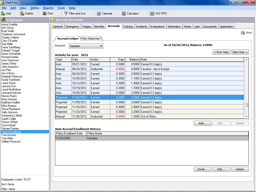 Time Off Accrual Spreadsheet Spreadsheet Downloa Paid Time