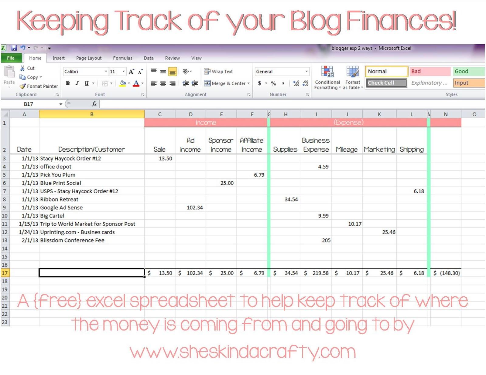 Track Your Expenses Spreadsheet Regarding Financial