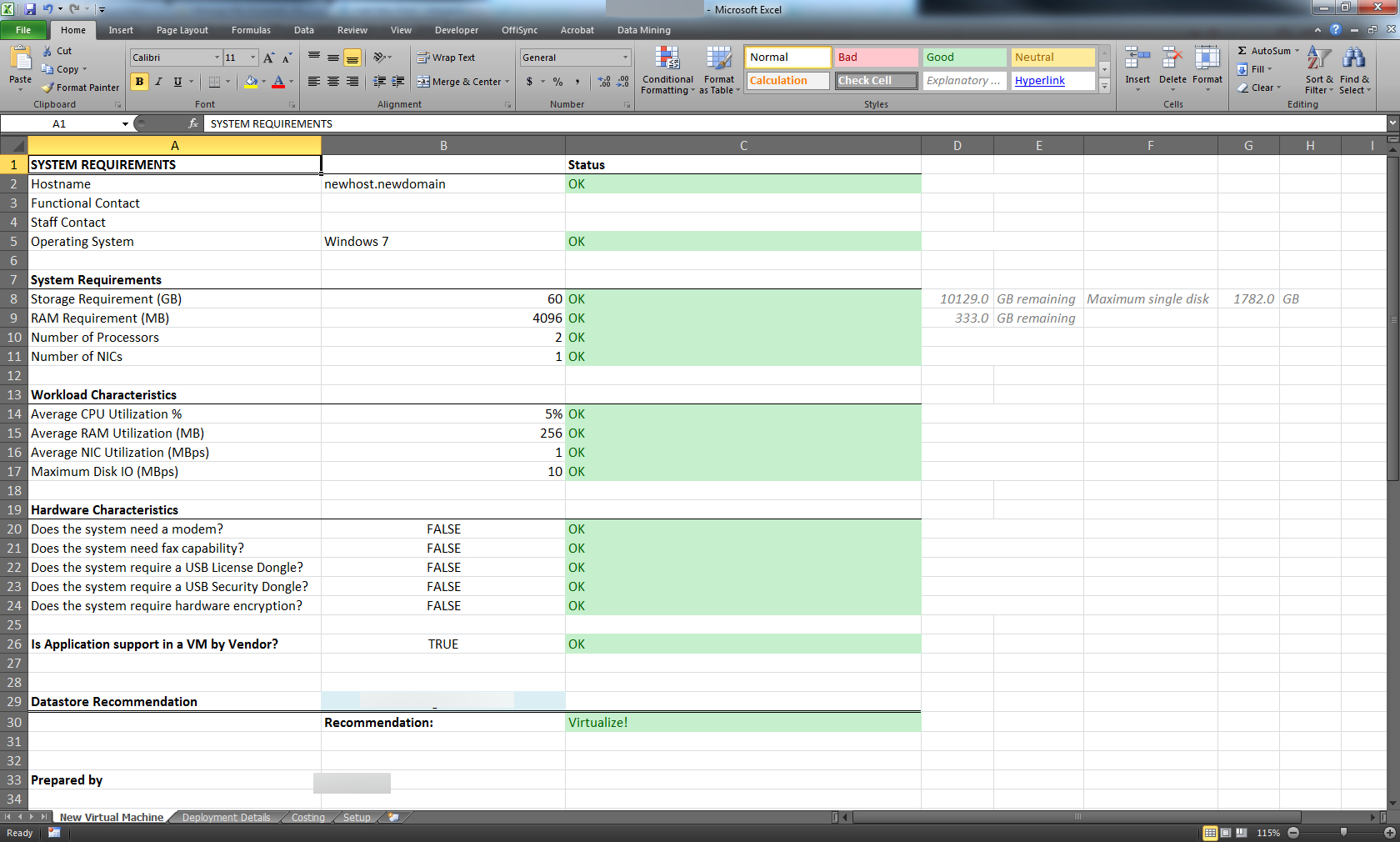 Vmware Capacity Planning Spreadsheet Spreadsheet Downloa