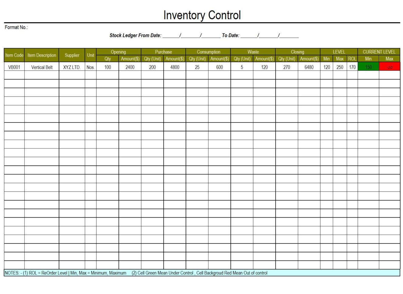 Waste Inventory Spreadsheet Spreadshee Waste