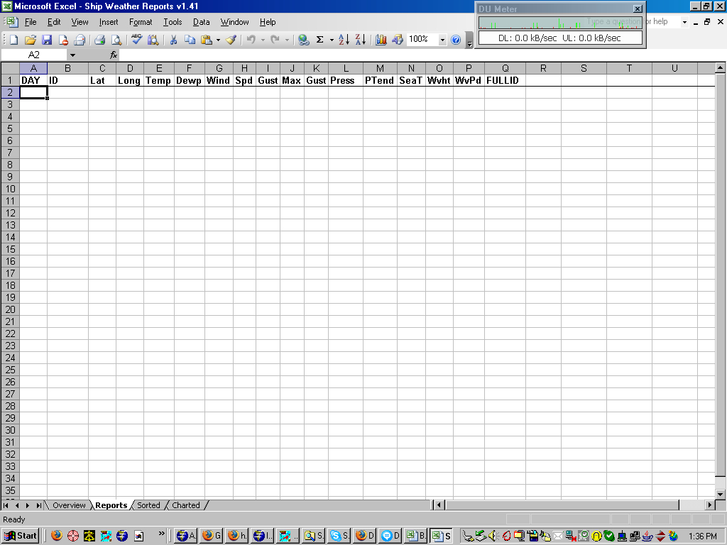Weather Forecast Excel Spreadsheet With Ship Weather