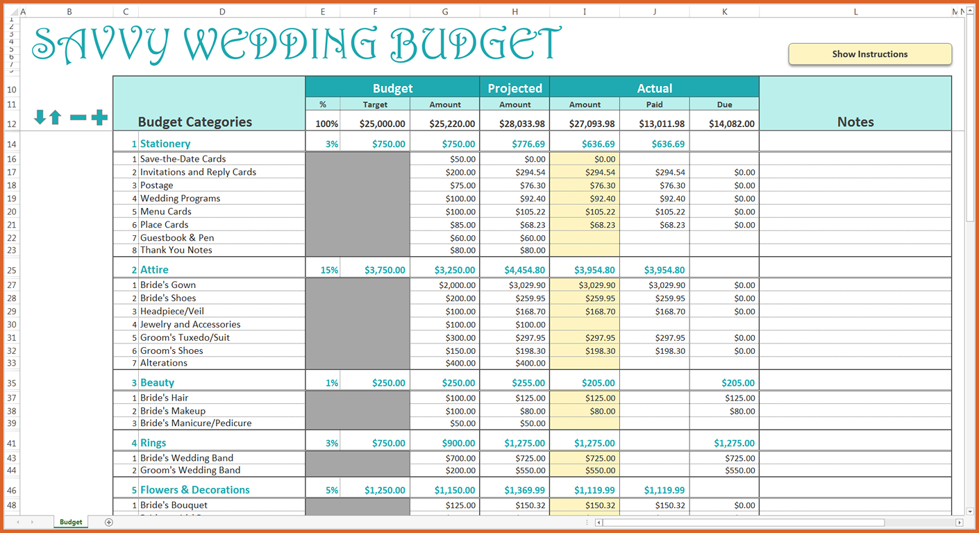 Wedding Budget Excel Spreadsheet Uk Payment Spreadshee