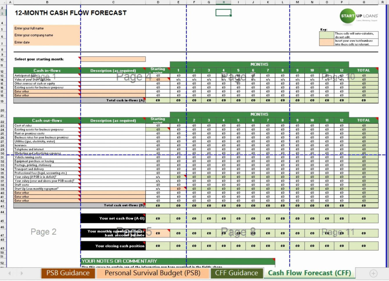 Weekly Cash Flow Forecast Spreadsheet Spreadsheet Downloa