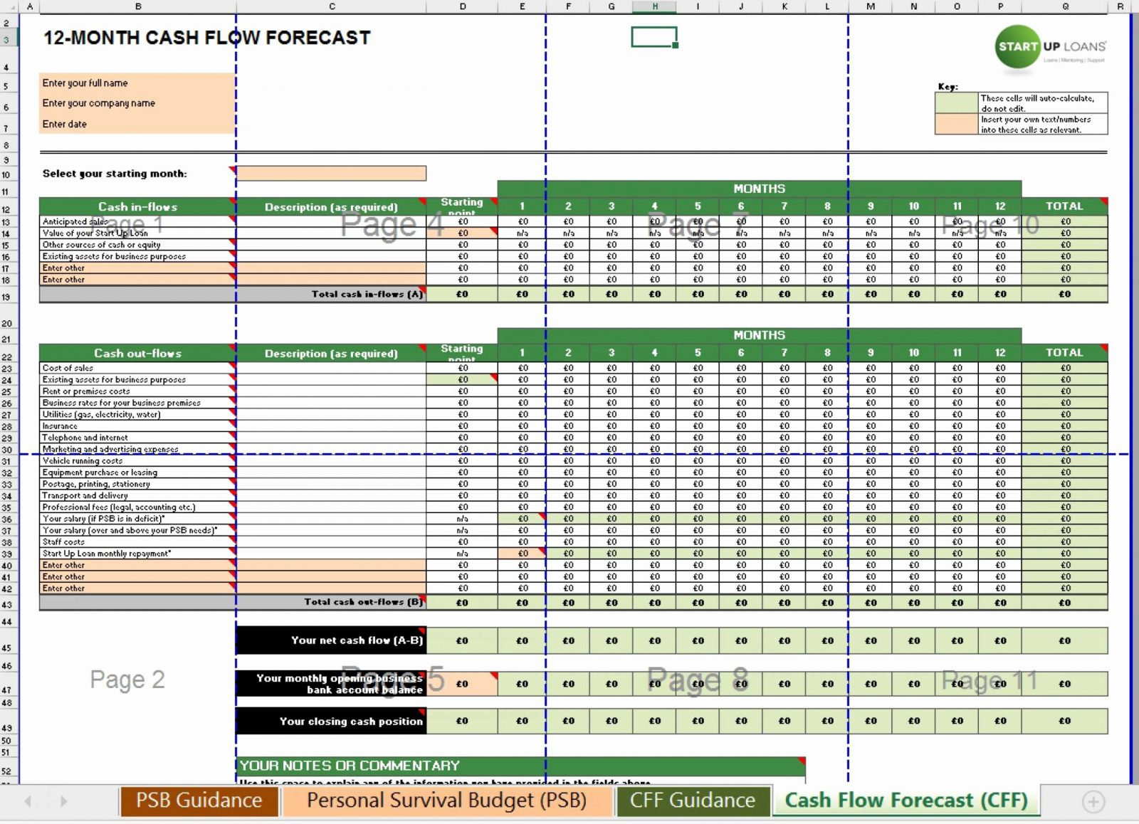 Spreadsheet Template Page 296 Spreadsheet Modelling