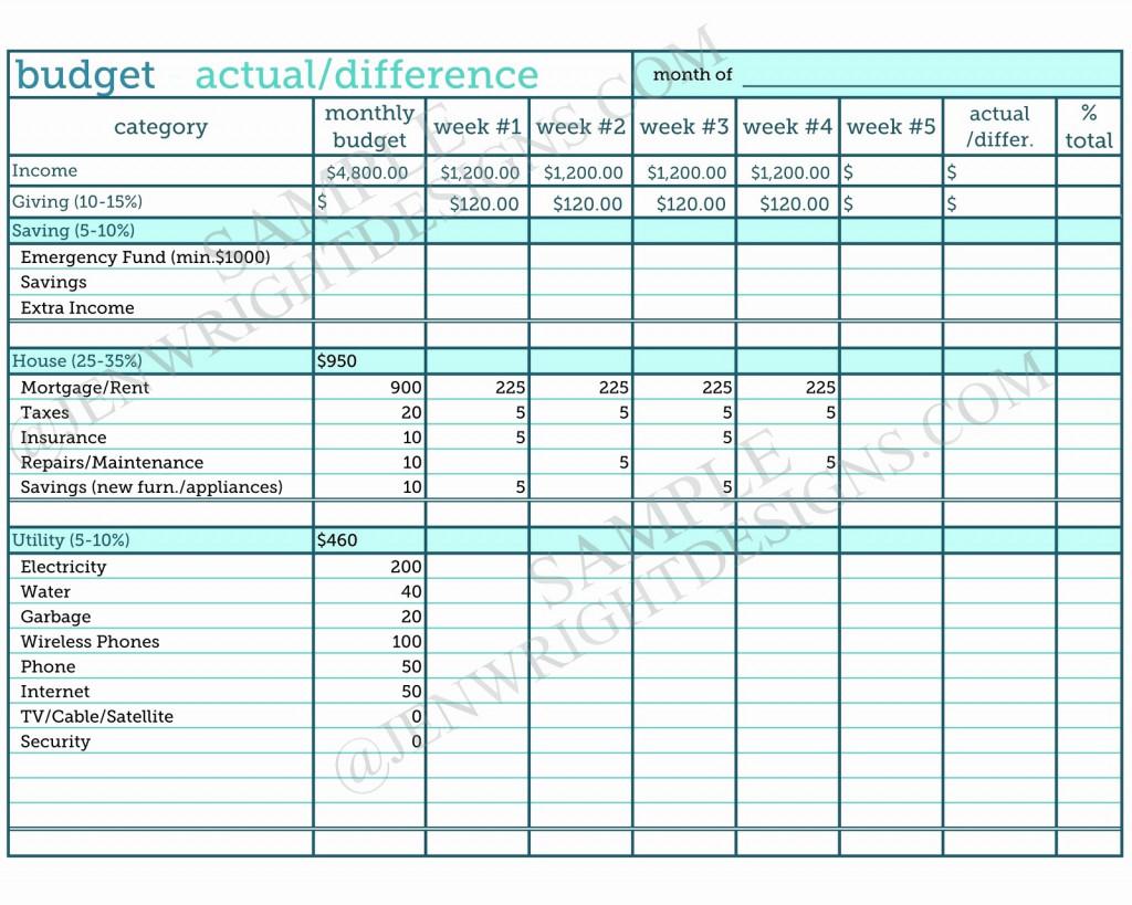 Zero Based Budget Spreadsheet Db Excel