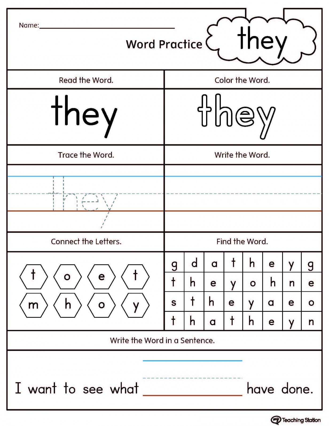 012 Word Family Printables Printable At Worksheets For