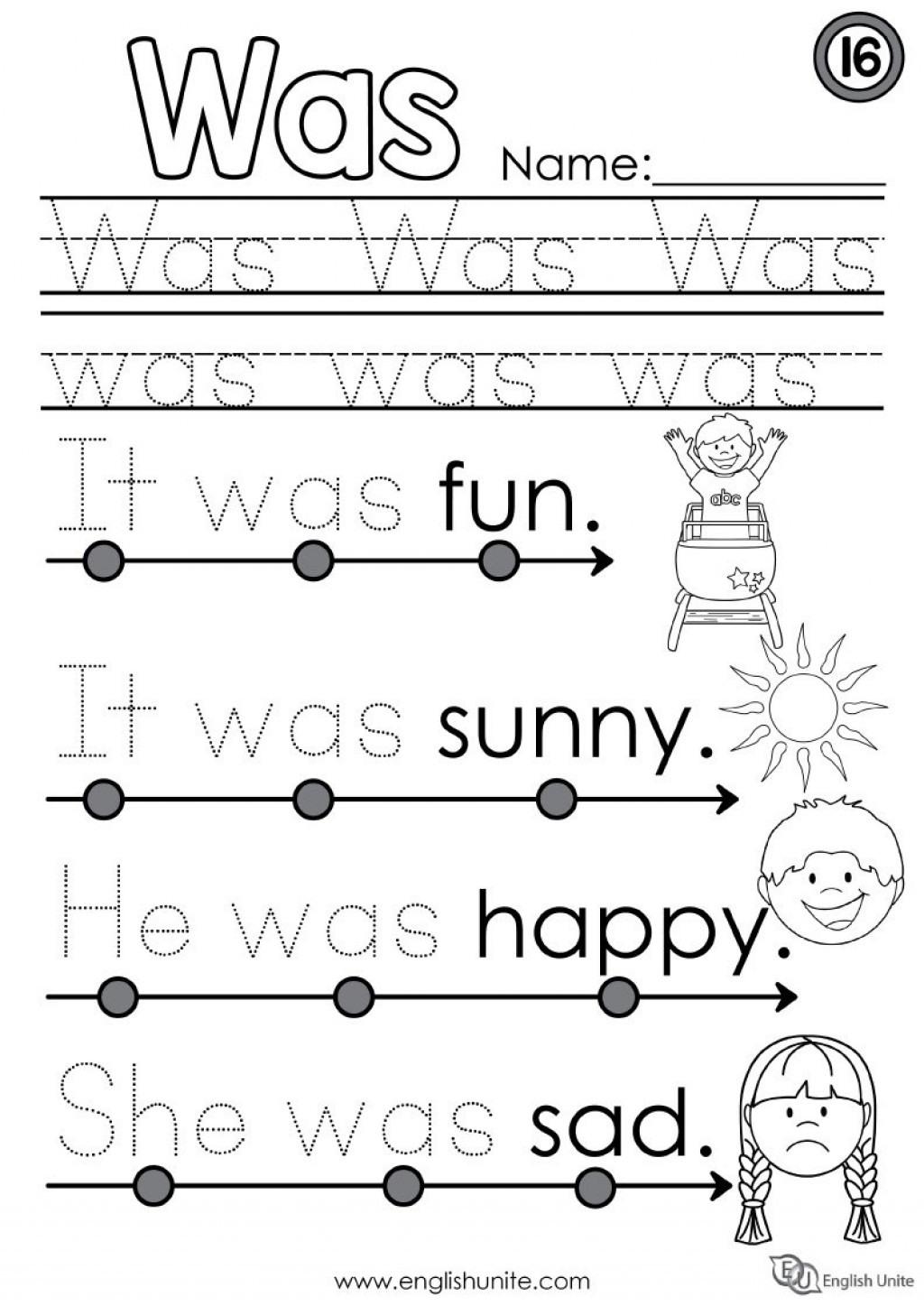 028 Printable Word Spanish Words Work Sheets Kindergarten