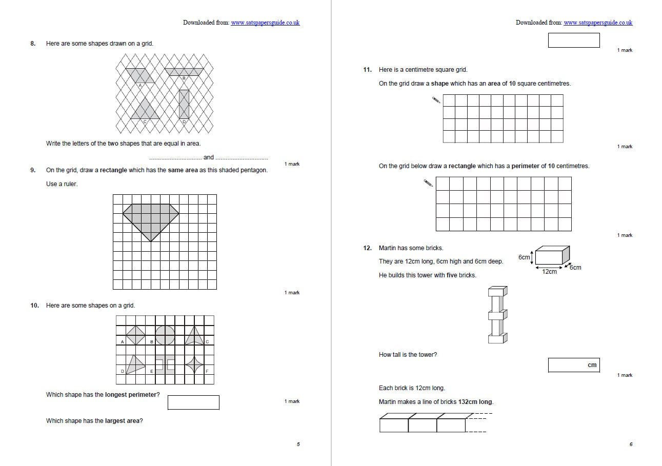 10 Of The Best Area And Perimeter Worksheets And Resources