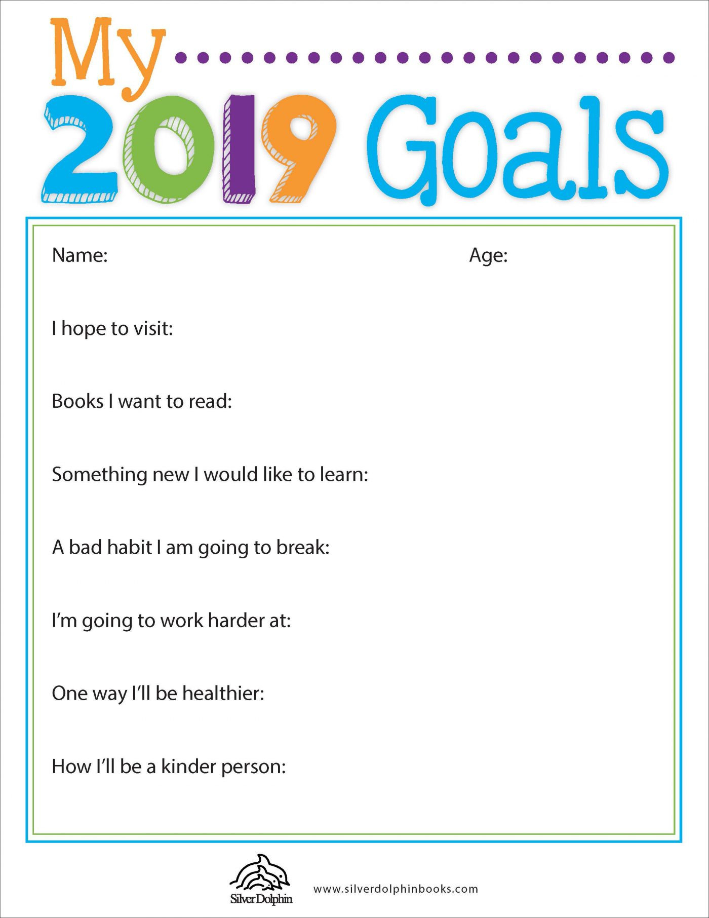 New Year Goal Setting Worksheet