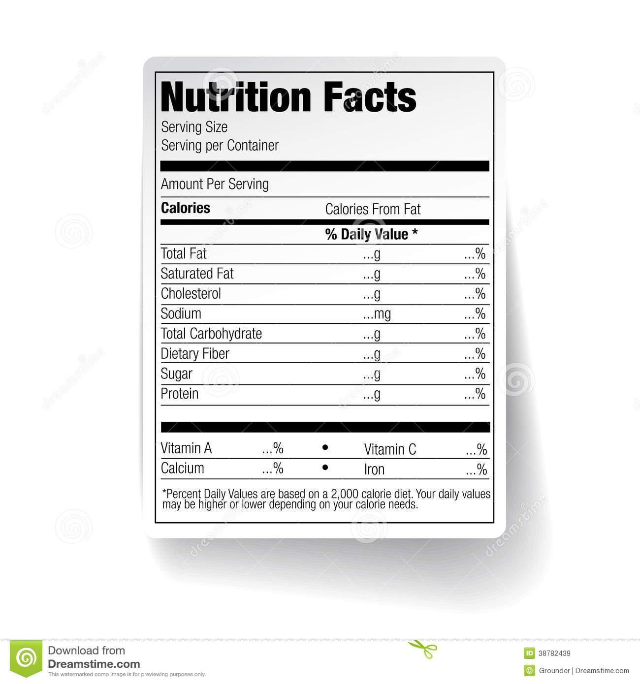 25 Images Of Empty Nutrition Label Vanscapital