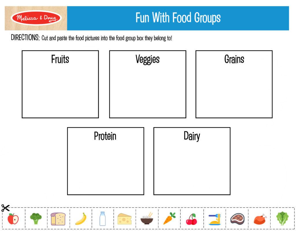 Nutrition Worksheets For Kids Db Excel