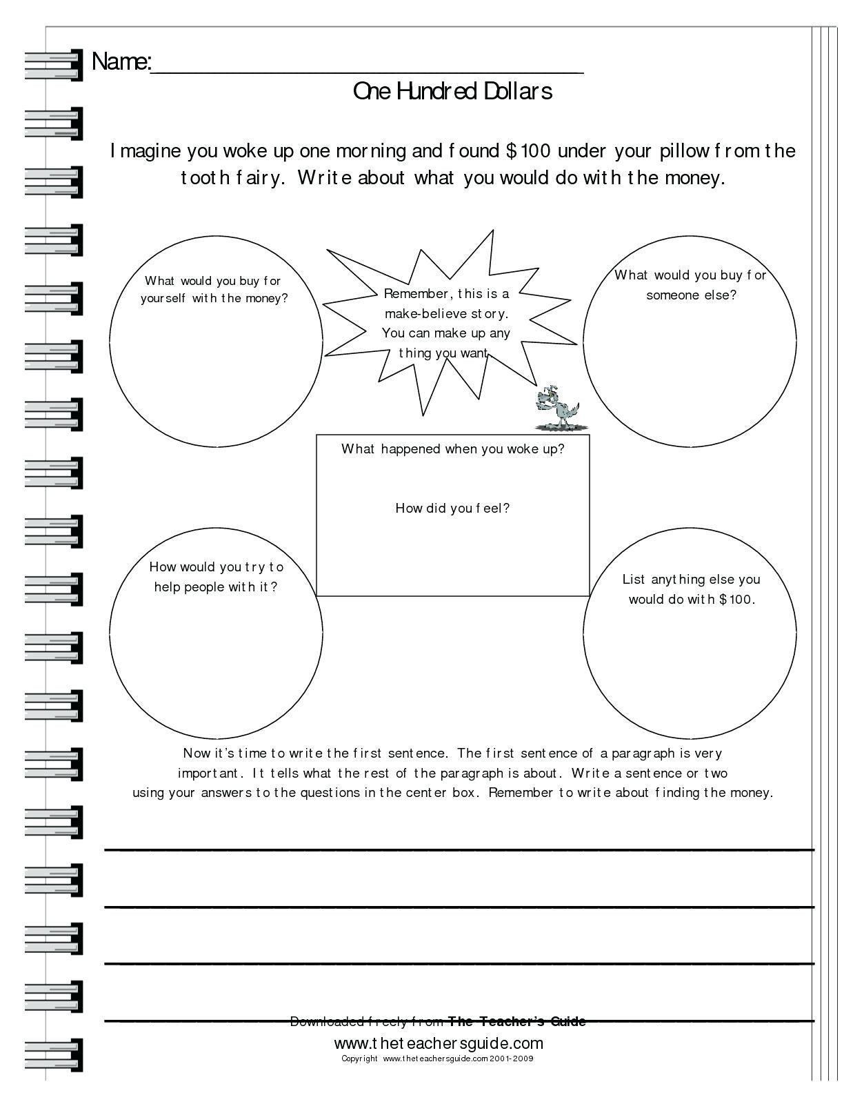 3rd Grade Writing Prompts Worksheets To You Math Worksheet