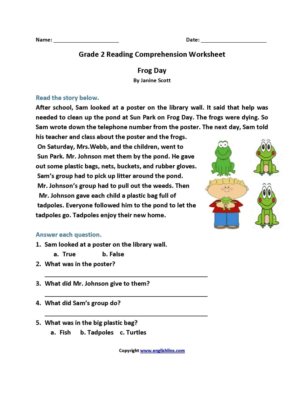 medium resolution of 4th Grade Reading Comprehension Worksheets   Printable Worksheets and  Activities for Teachers