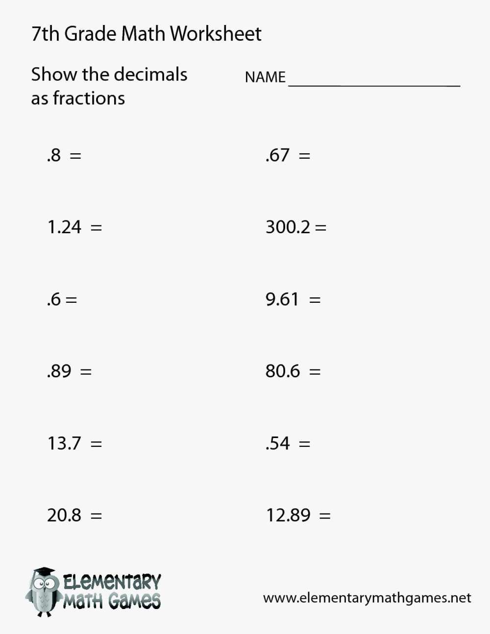 medium resolution of Eureka Math Worksheets 7th   Printable Worksheets and Activities for  Teachers