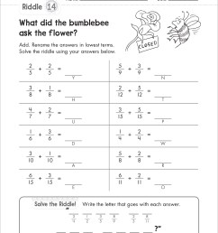 5th Grade Fractions With Unlike Denominators Worksheets   Printable  Worksheets and Activities for Teachers [ 3112 x 2507 Pixel ]