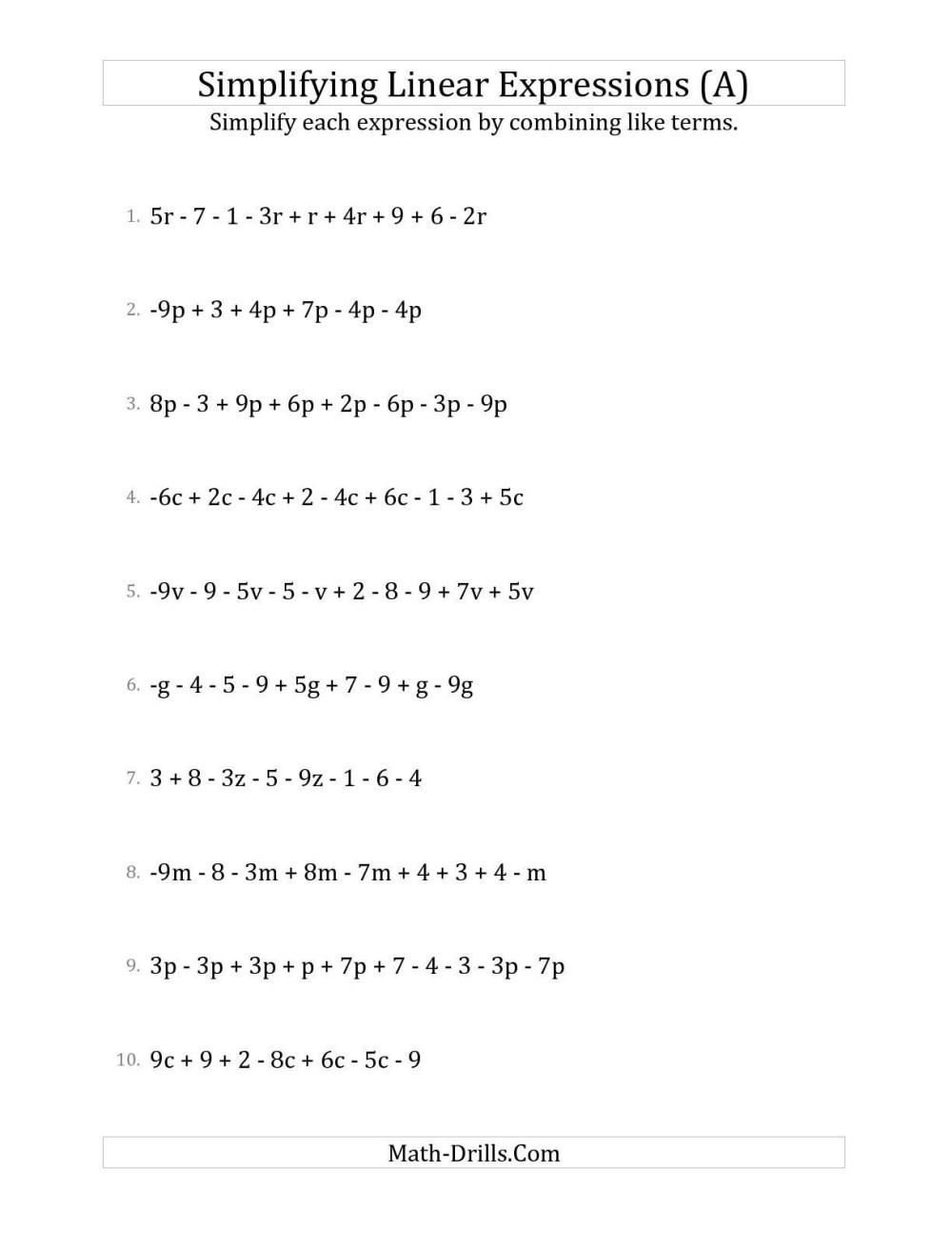 medium resolution of 6th Grade Algebra Worksheets   Printable Worksheets and Activities for  Teachers