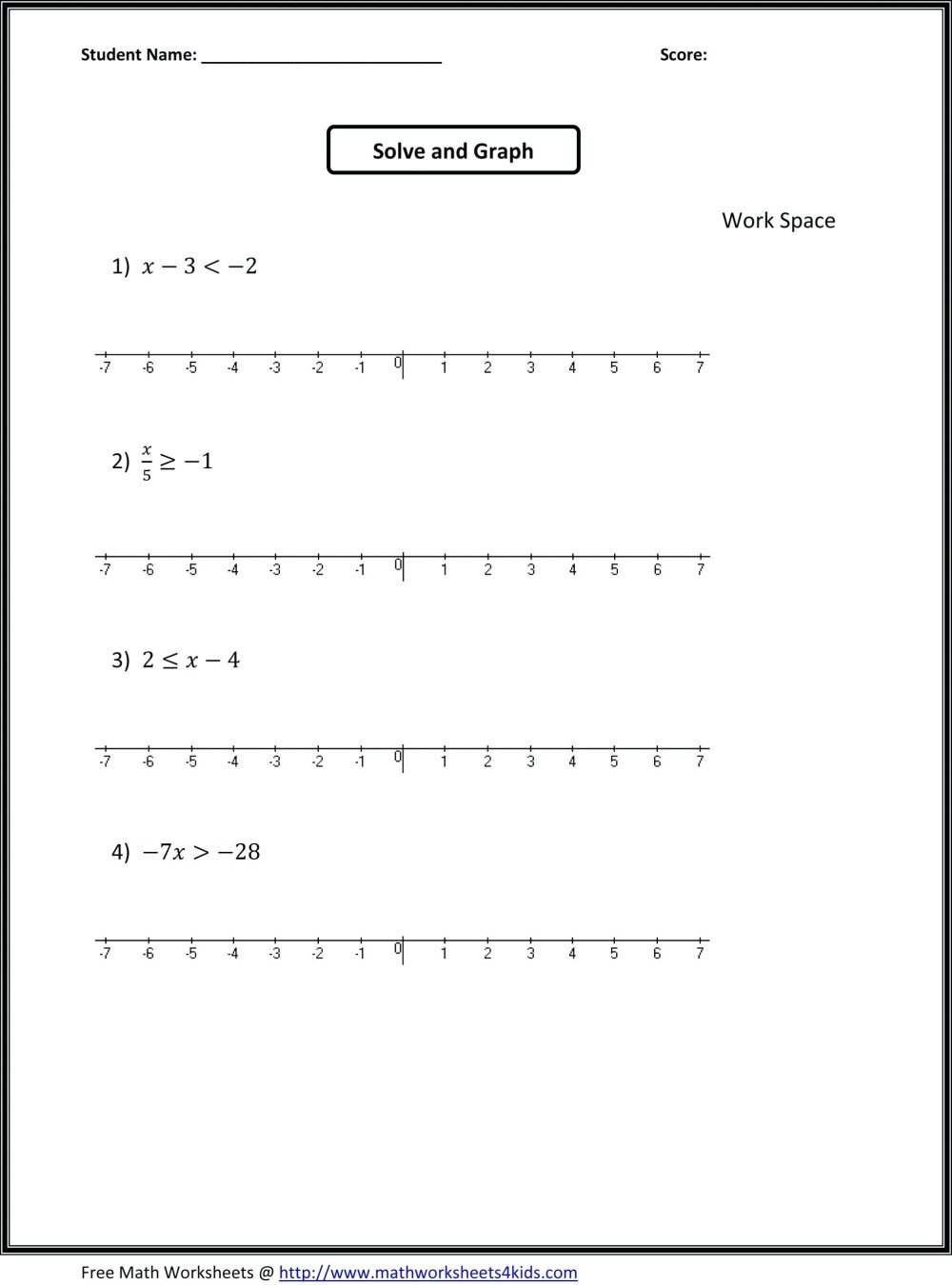 medium resolution of Inequalities Worksheets For 9th Grade Algebra   Printable Worksheets and  Activities for Teachers