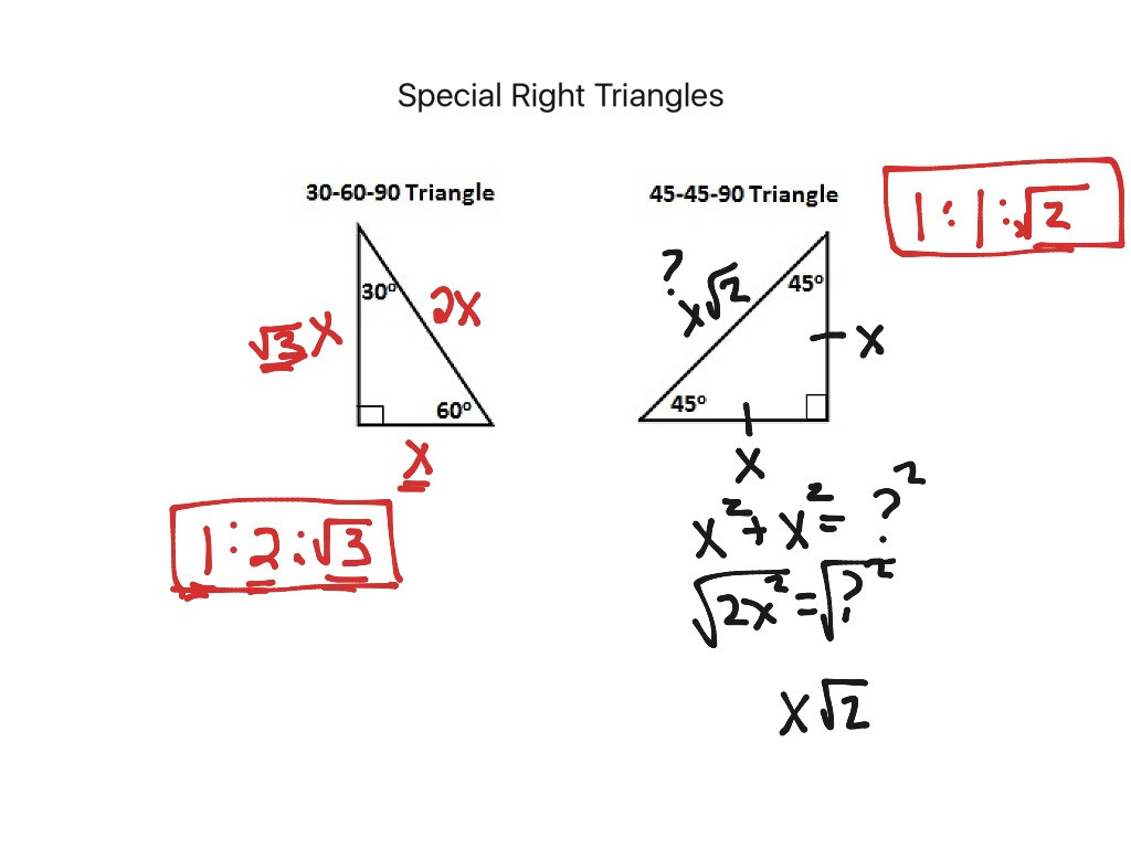 84 Special Right Triangles Math Geometry Showme