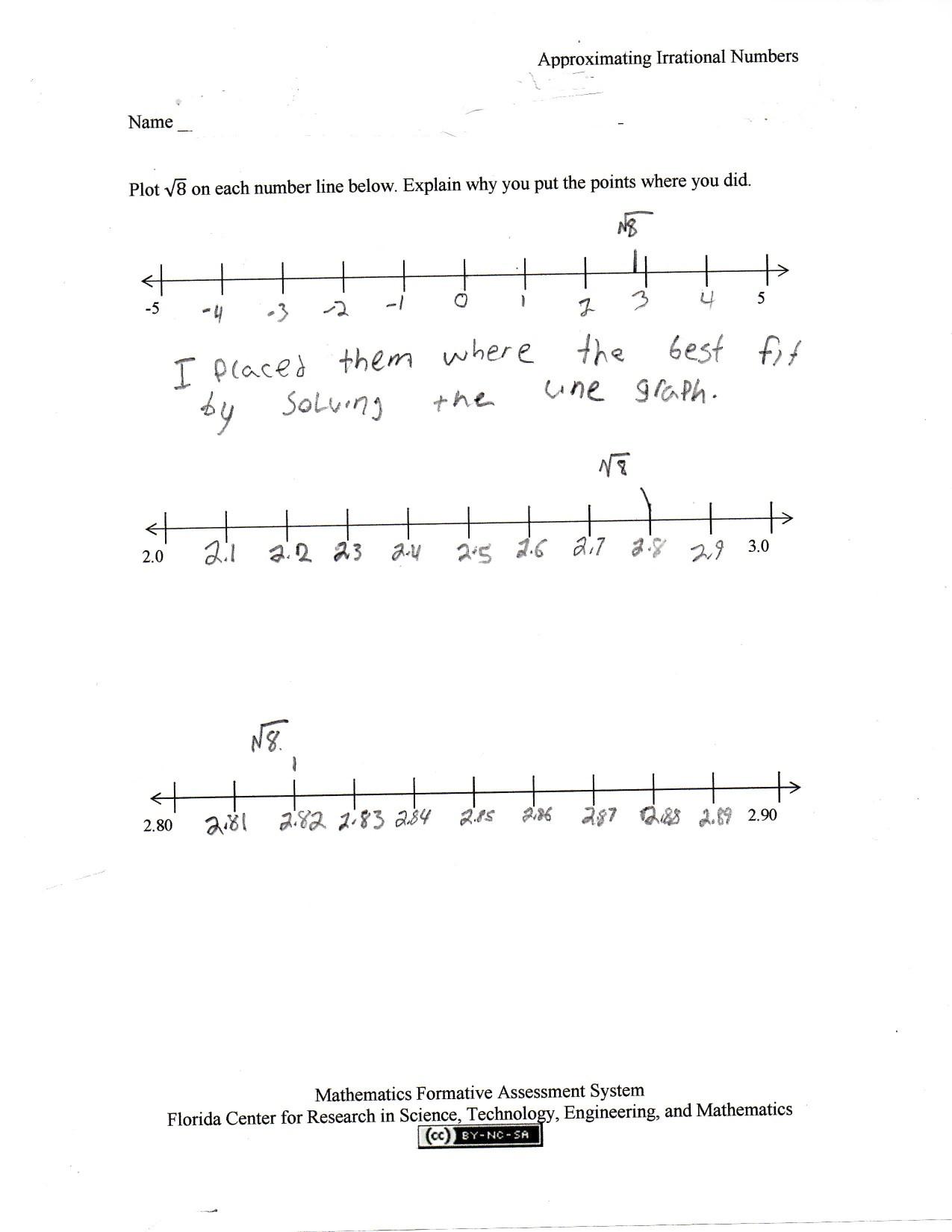 8th Grade Math Worksheets Square Roots Printable Worksheet