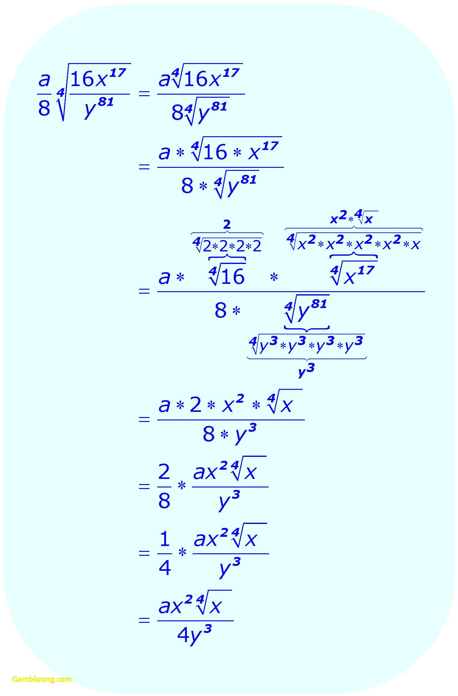 Adding And Subtracting Radical Expressions Worksheet