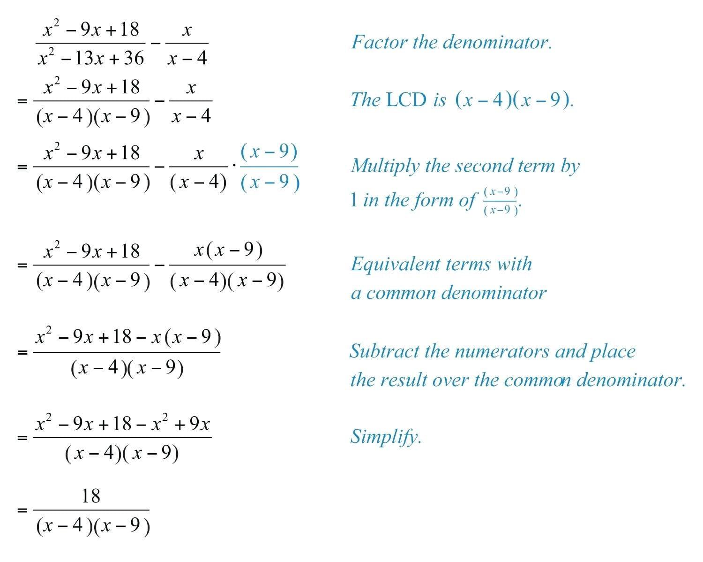 Rational Expressions Worksheet Algebra 2