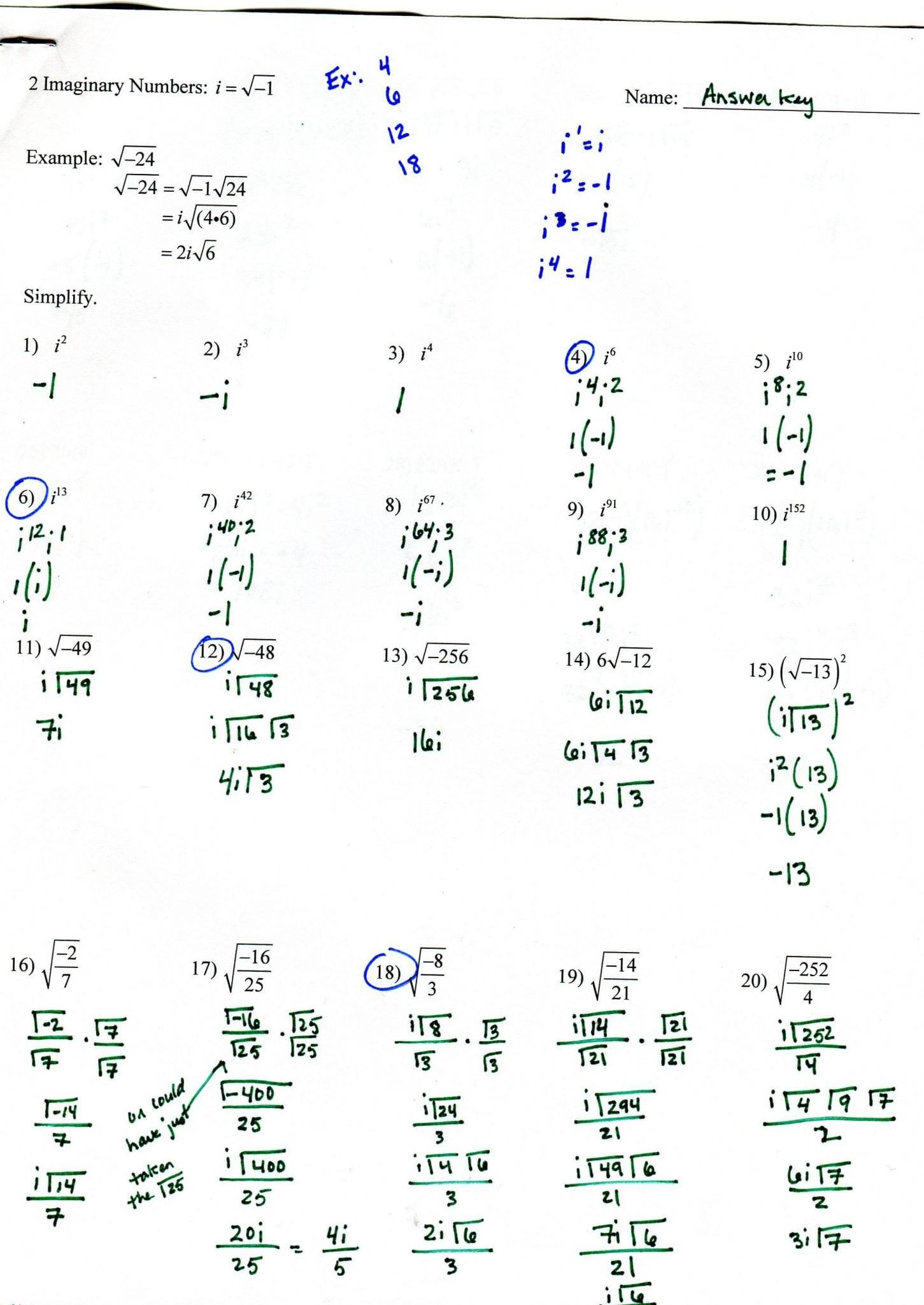 Functions Worksheet With Answers