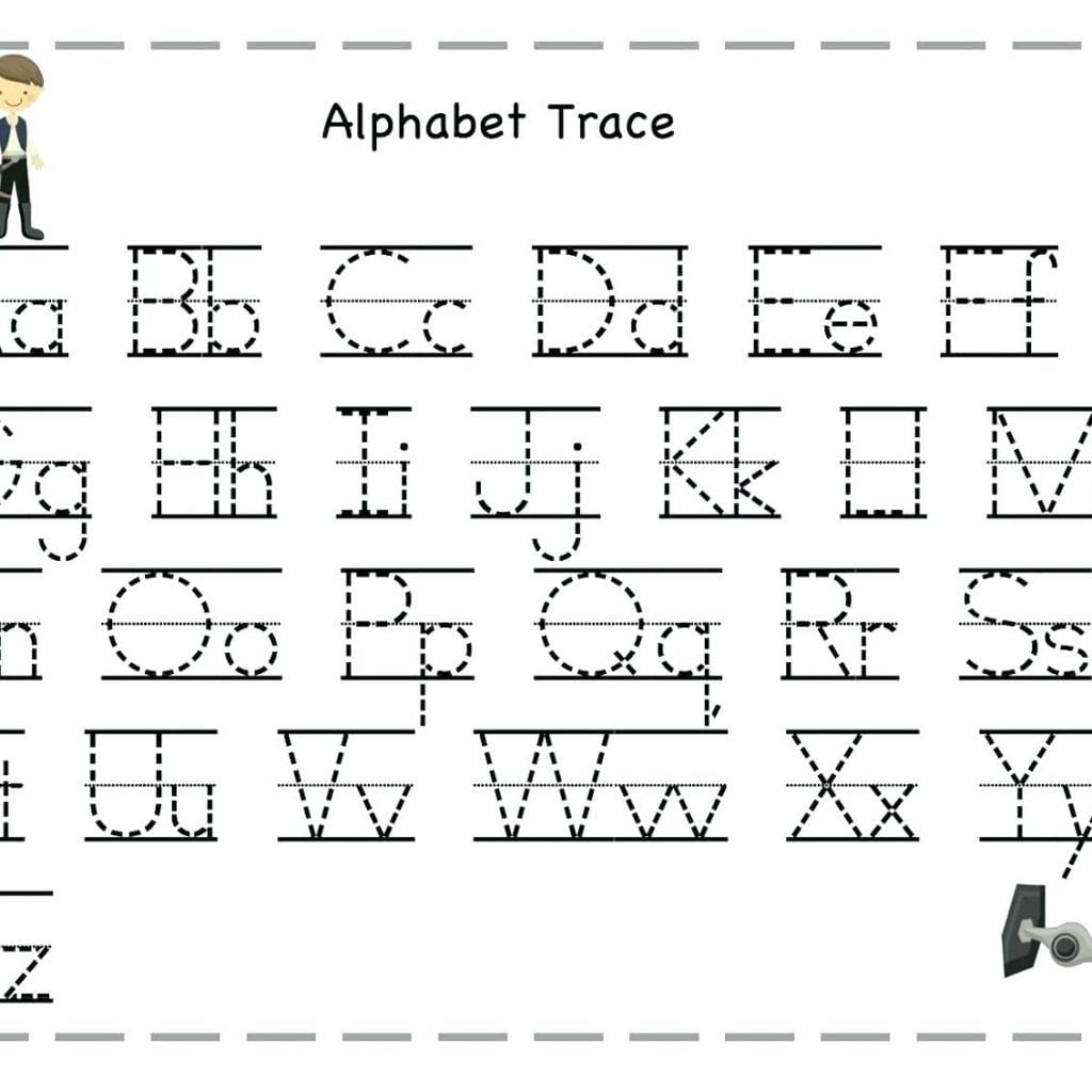 Alphabet Tracing Worksheets Letter A With Abc Trace Sheet