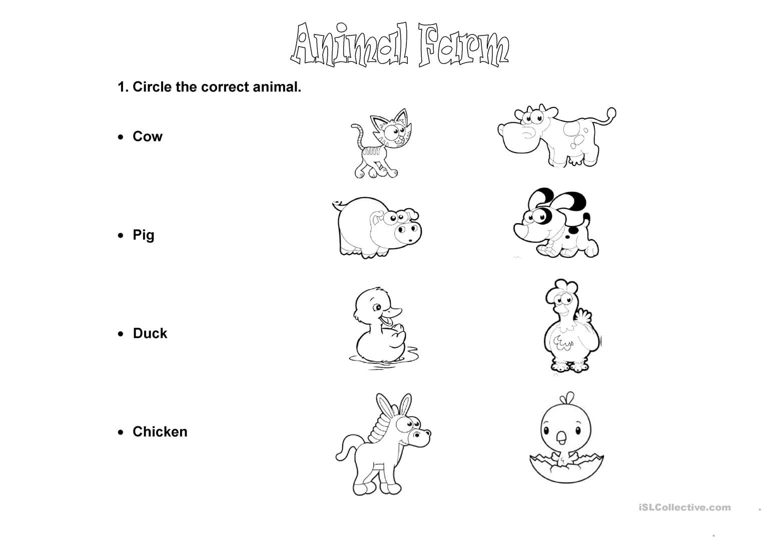 Animal Farm Worksheets